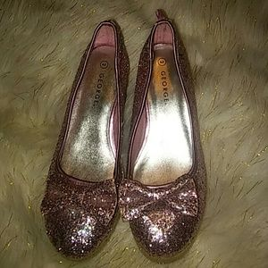 Girls sz 2 pink glitter slipon never worn